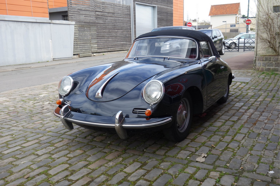 1961 Porsche 356 B 1600 Super Cabriolet on offer at Osenat Fontainebleau Auction