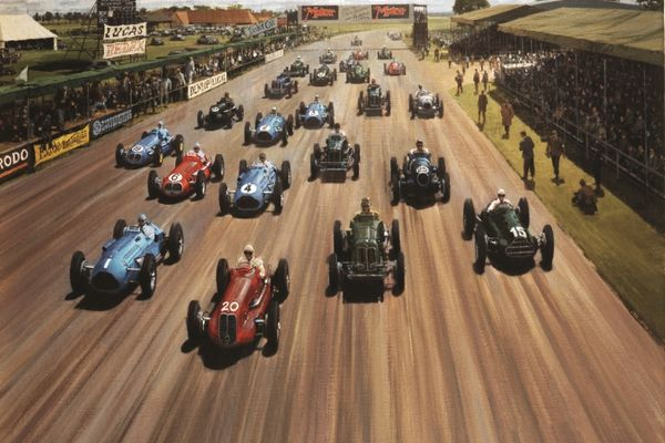Silverstone Classic: The race on the runways