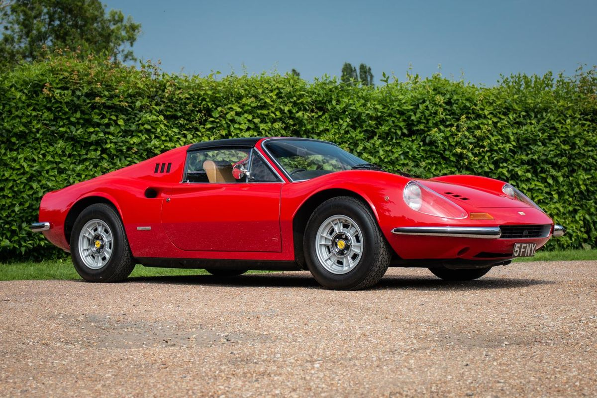 1972 Ferrari Dino 246 GTS heads to auction at the Silverstone Classic