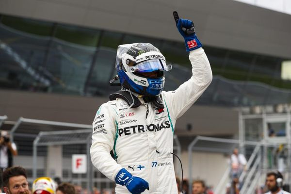 Valtteri Bottas takes pole in Austria