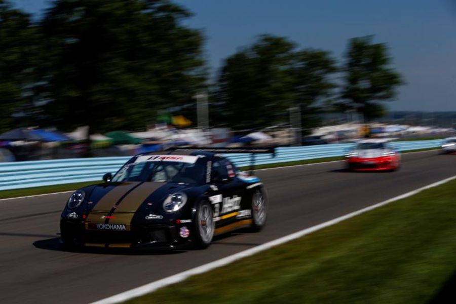 Estep Recovers from Practice Crash to Win Race #2 in Porsche GT3 Cup Challenge USA