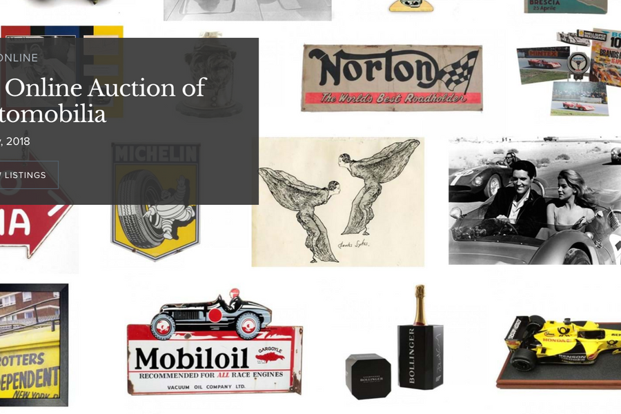 H&H Classics Online Auction of Automobilia is now open for bidding