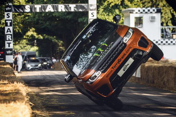 Terry Grant and Landrover take Guinness World Record at Goodwood Festival of Speed