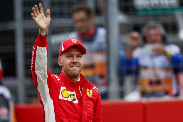 Vettel on pole for home GP, Hamilton out in Q1