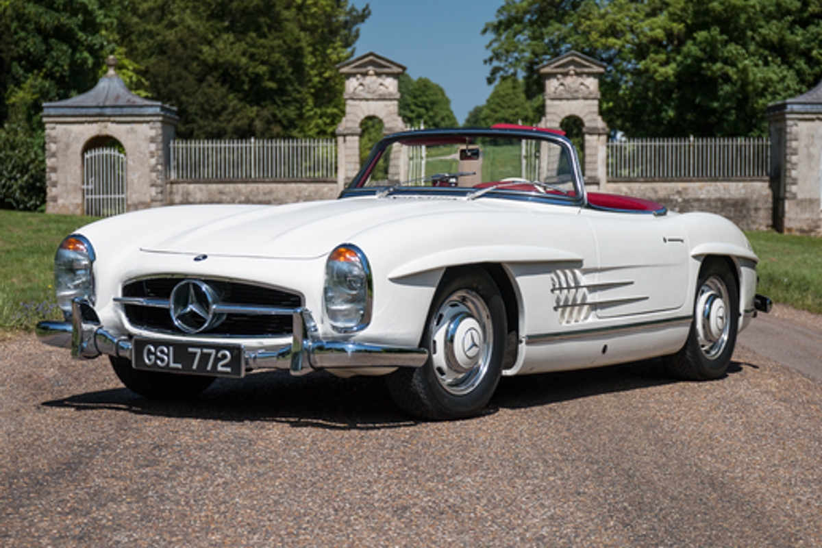 1958 Mercedes-Benz 300SL Roadster Sold for £860,625 at Silverstone Classic Sale; results