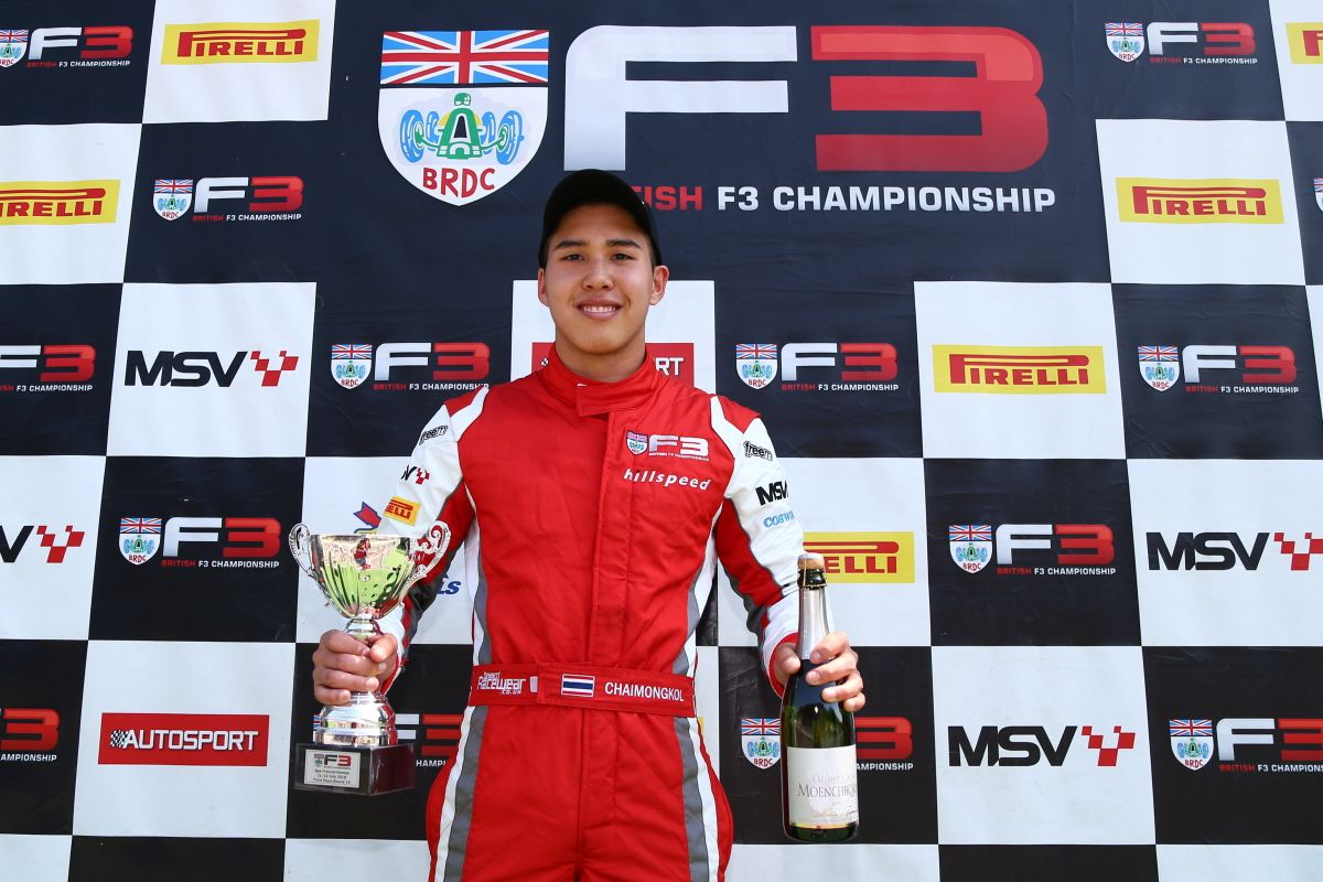 Second British F3 Podium Of Season For Chaimongkol With Runner-Up Spot At Spa