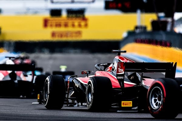F2 drivers take on the Hungaroring's twists and turns with medium and supersoft tyres