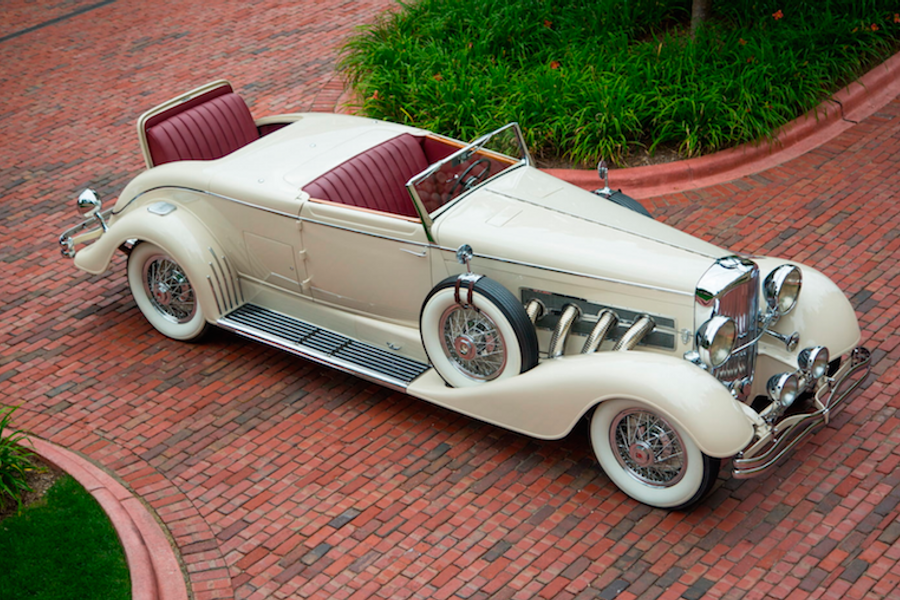 1933 Duesenberg Model J Convertible Coupe Disappearing Top Roadster at Mecum Monterey