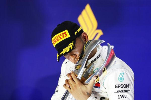 Hamilton stretches title lead with Singapore GP win
