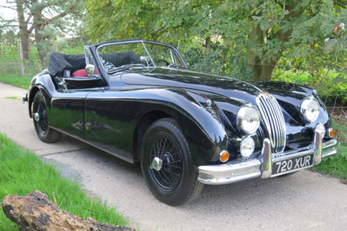 1955 Jaguar XK140 MC Drophead Coupe on offer at Silverstone Auctions