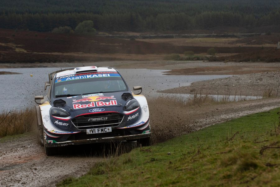 Ogier leads Rally Great Britain after Tänak exit