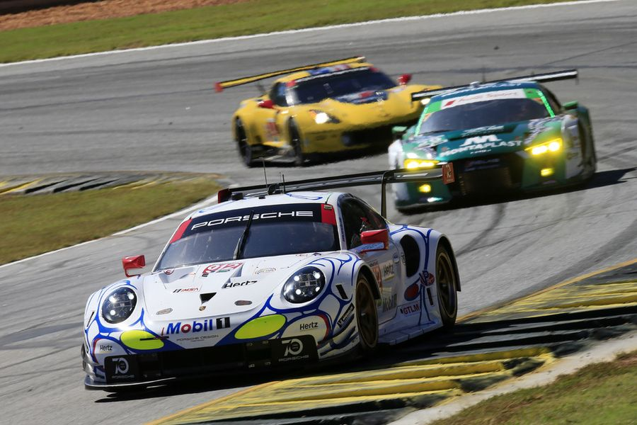 Porsche takes up Petit Le Mans from second grid row
