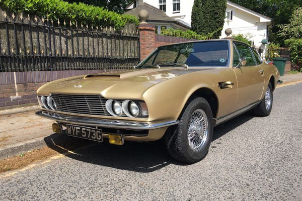 Champagne Gold 1969 Aston Martin DBS on offer at Barons Anniversary Sale