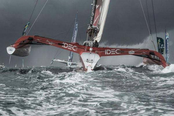 Joyon snatches record-setting victory in thrilling Route du Rhum finale