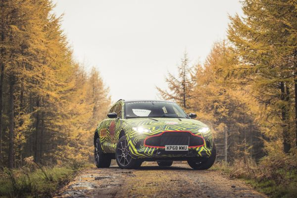 DBX: Prototype testing of Aston Martin's first SUV; video tackling Welsh Rally stage