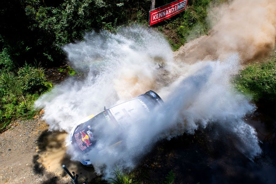 Ogier edges towards sixth straight WRC crown at Kennards Hire Rally Australia.