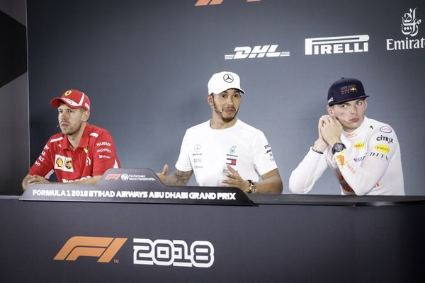 Abu Dhabi GP Winners' Conference