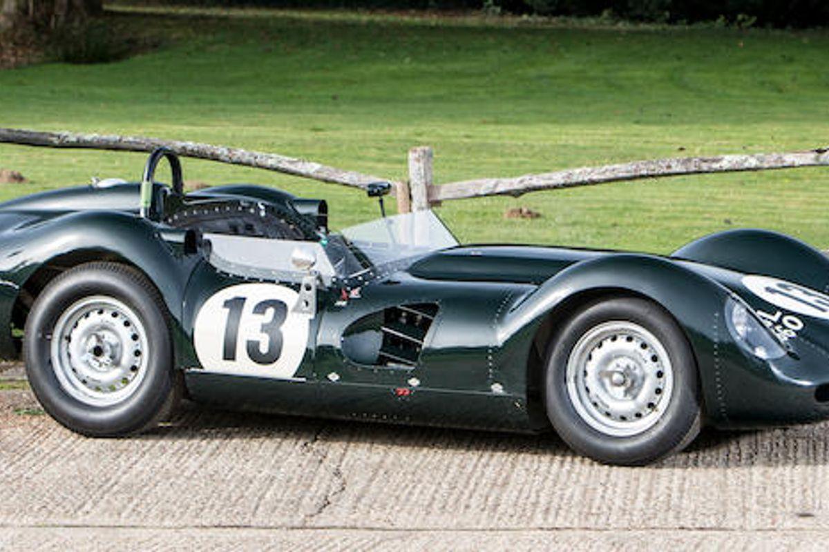 """Arthur Bonnet Le Mans 1959 lister-jaguar """"knobbly"""" 3.8-litre sports-racing two"""