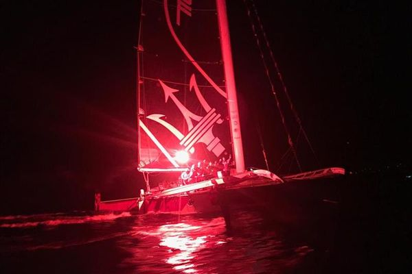 Maserati Multi 70 crosses RORC Transatlantic Race finish line in first