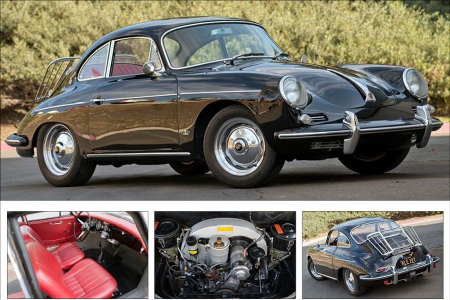 Matching numbers Porsche 356B for auction at no reserve