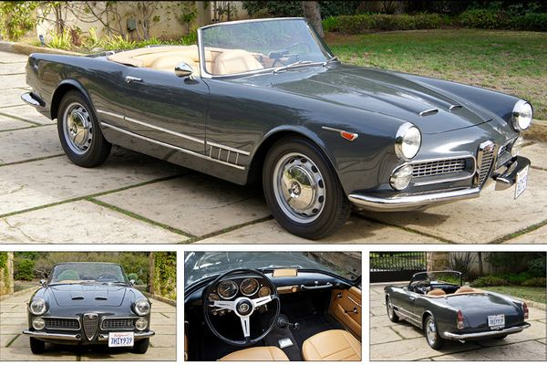 Recently completed long-term restoration 1962 Alfa Romeo 2000 Spider on offer