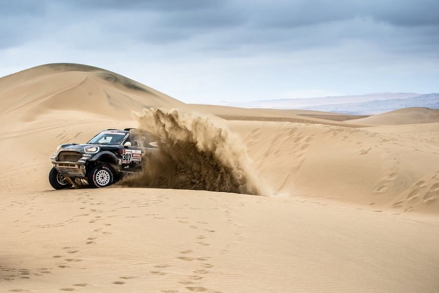 Mini maintains second on the Dakar; Peterhansel retires from Stage 9 due to racing incident