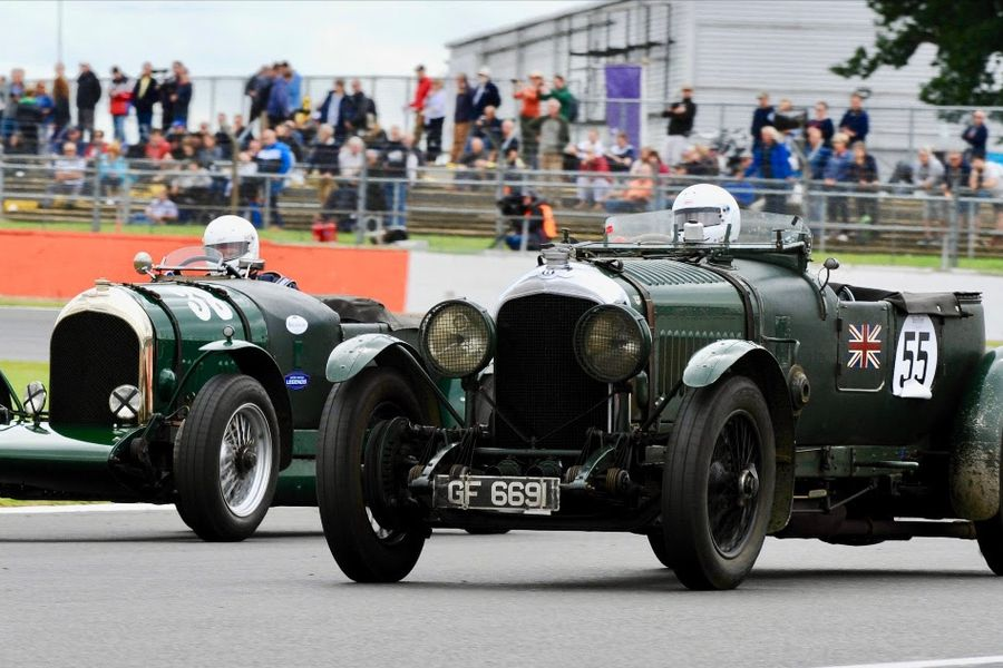 Record grid of Bentley racers to celebrate centenary at Silverstone Classic