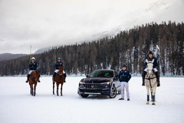 Maserati Winter Experience off to a spectacular start at Snow Polo World Cup St. Moritz