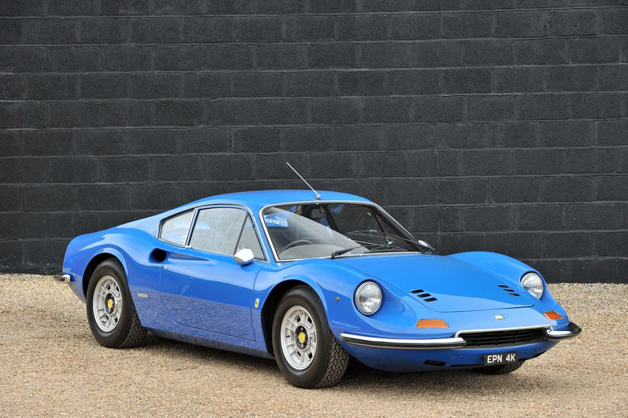 1 of only 235 RH drive 1972 Ferrari Dino 246GT Coupes for auction at Race Retro