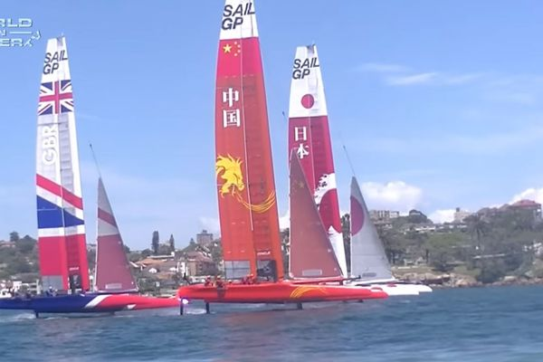 Sail GP - Footage from practice day in Sydney