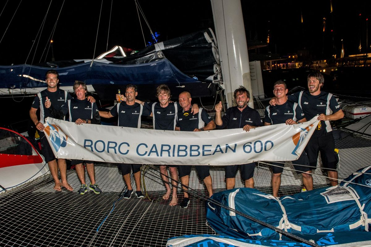Maserati Multi 70 first to cross the finish line of the RORC Caribbean 600