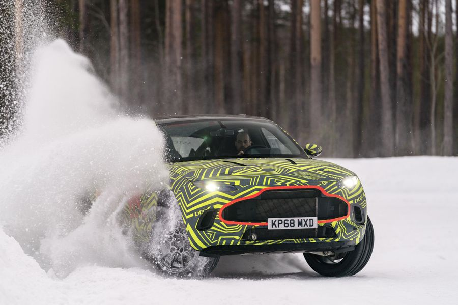 Aston Martin DBX tested to extreme in Sweden