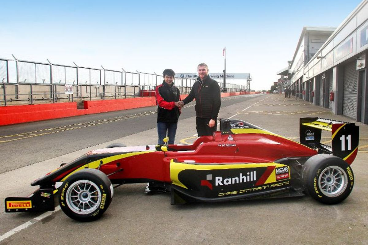Nazim Azman moves up to BRDC British F3 with Chris Dittmann Racing