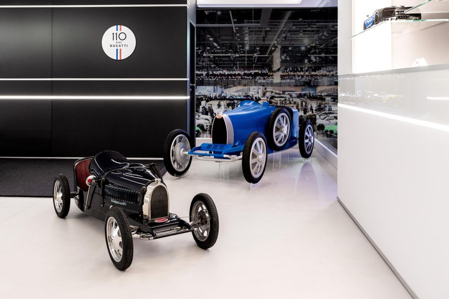 500 limited-edition junior Bugatti cars built to celebrate 110th anniversary