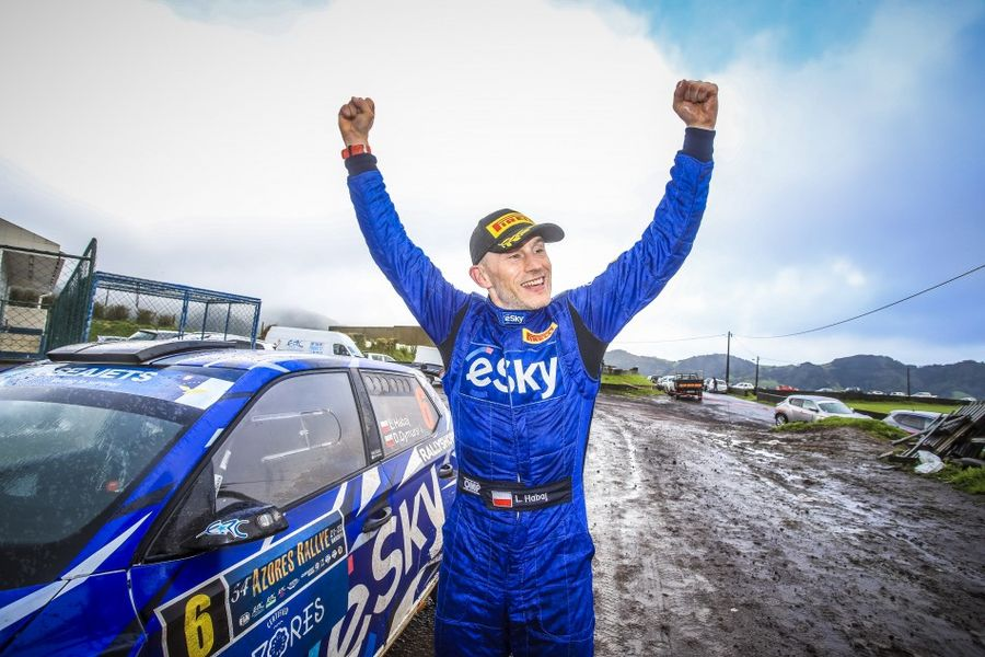 Lukasz Habaj and Daniel Dymurski score maiden ERC victory in the Azores