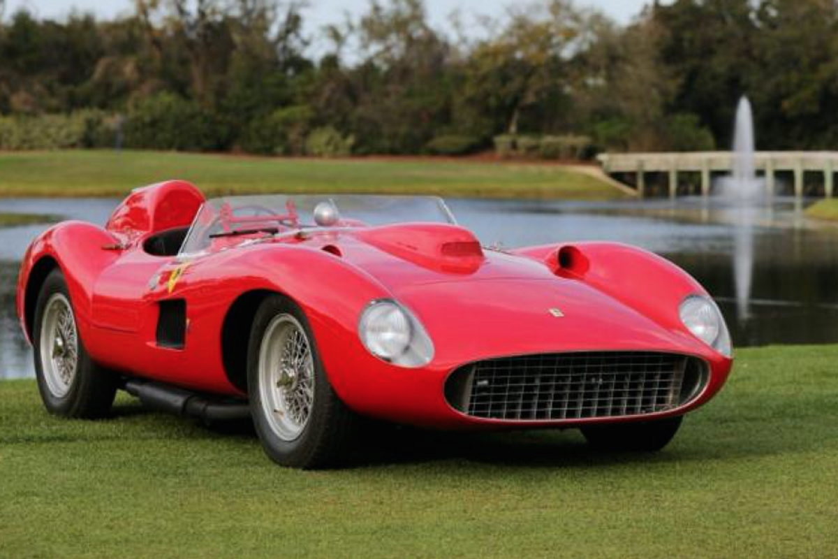 Take a close look at the Best in Show Concours award winning 1957 Ferrari 335S, video