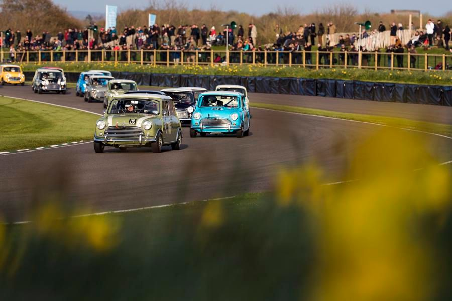 Minis and V8s Take Saturday Race Wins at Goodwood Members' Meeting