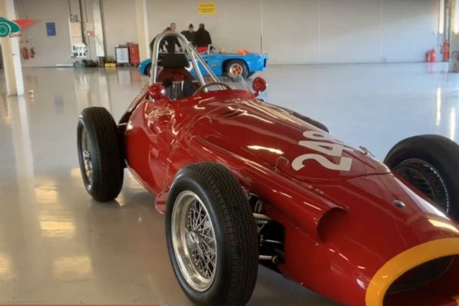 Classic Maserati 250F at Silverstone: video at Historic Racing News