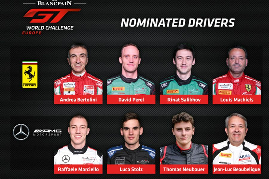 Ferrari, Mercedes-AMG driver nominations for maiden Blancpain GT World Challenge Europe campaign