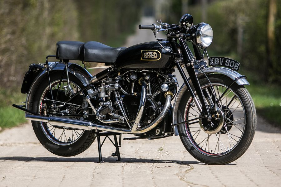 1951 Vincent Black Shadow Series C in top condition at British Marques sale