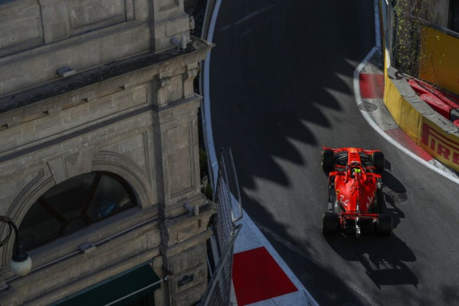 Leclerc tops incident packed Azerbaijan Grand Prix practice