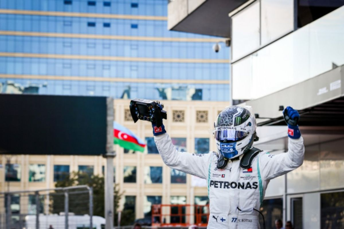 Bottas leads Mercedes 1-2 Azerbaijan Grand Prix win