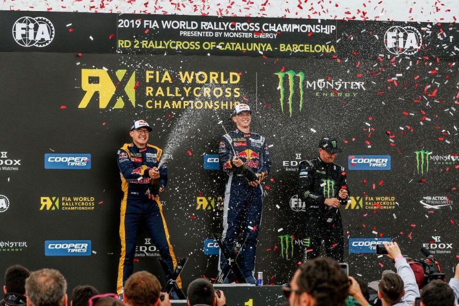 Clean sweep for Timmy Hansen in  WorldRX of Catalunya