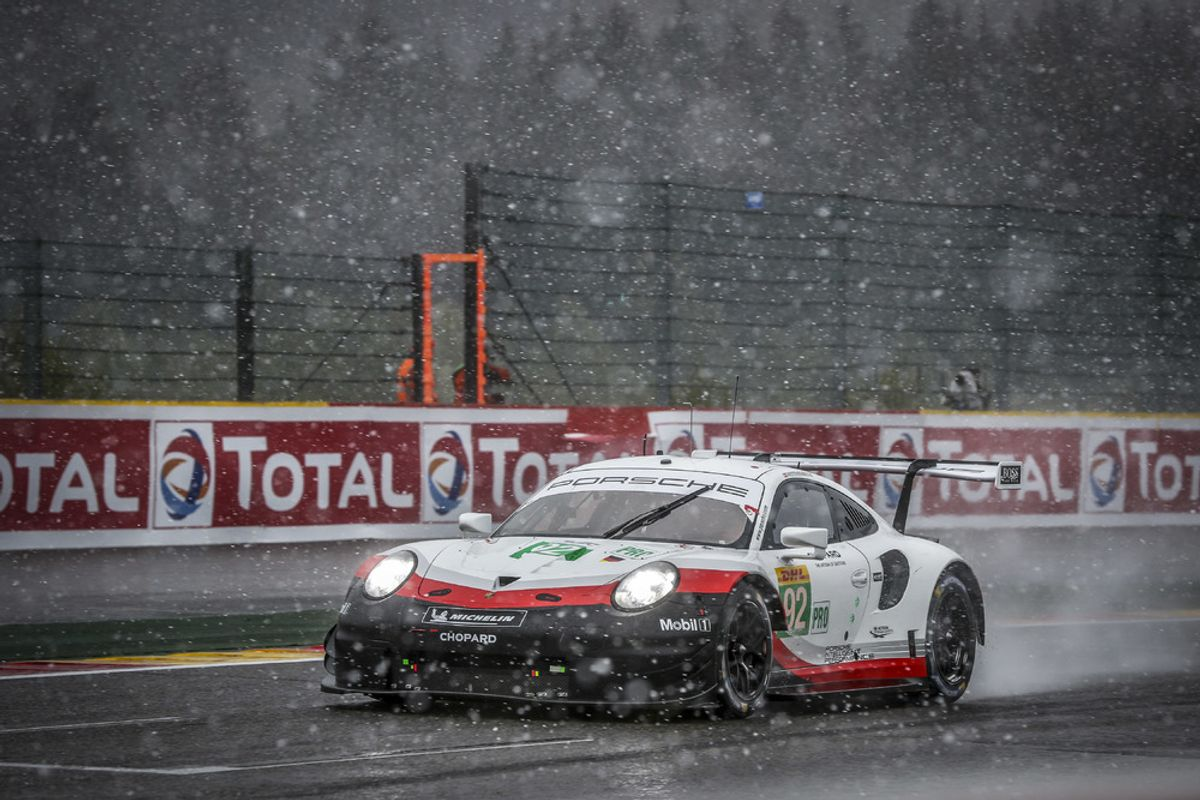 Spa podium gives Porsche early GTE-Pro world championship title