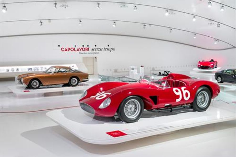 Timeless Masterpieces exhibition at the Enzo Ferrari Museum in Modena