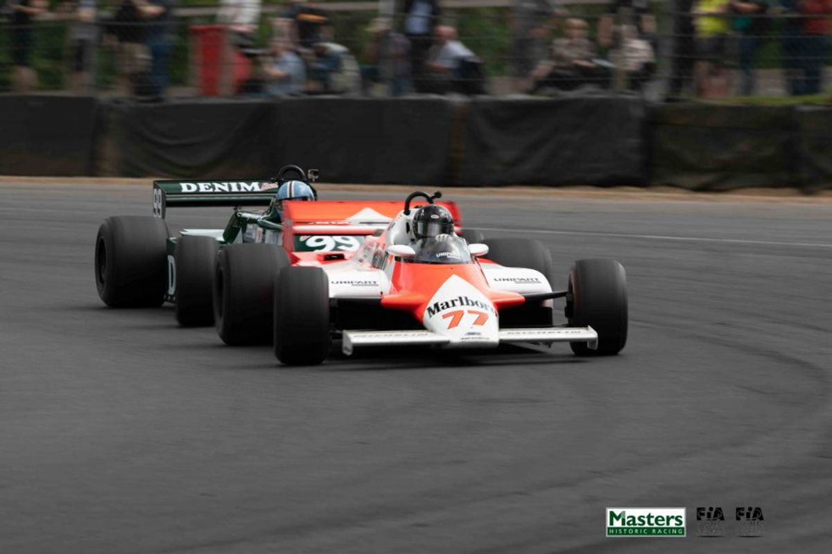 Hartley back on winning form in FIA Masters Historic Formula 1 race at Brands