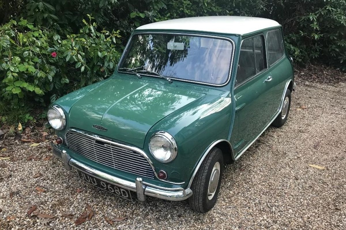 Classic Mini Cooper S Waves the Flag at Barons' British Heritage, Classic & Sports Cars Sale - June 4, Sandown Park