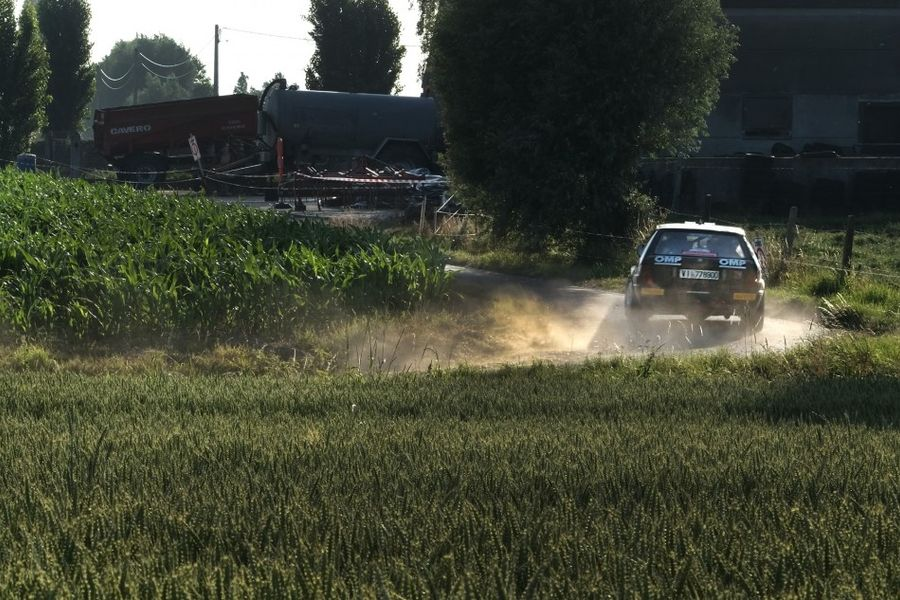 Lancia Delta Integrale top EHSRC car on the opening day of the Ypres Historic Rally