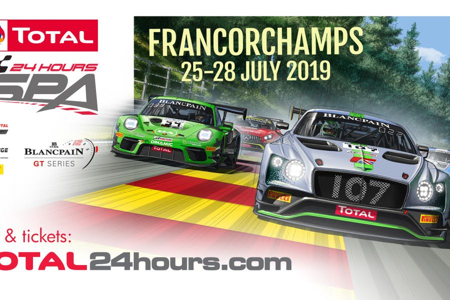 Record-breaking 72-car entry list for Total 24 Hours of Spa
