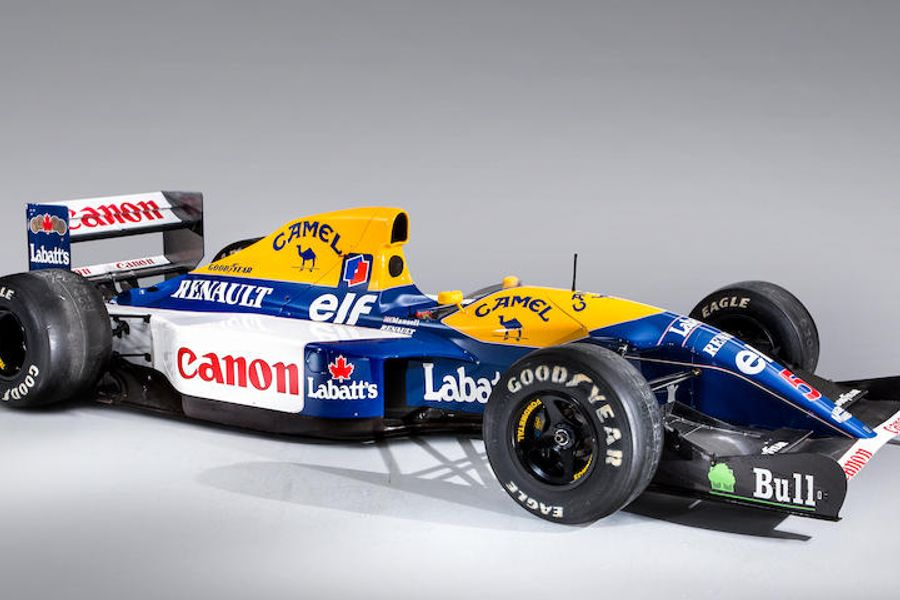 Mansell's 'Red Five' 1992 Williams FW14B F1 wins for Bonhams at Goodwood, results